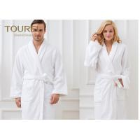 Buy cheap Unisex White Shawl Collar Robe100% Cotton Quilted Hotel Style Terry Cloth Robes from wholesalers