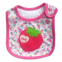 China Personalised Strawberry Newborn Baby Girl Bibs Anti Bacterial on sale