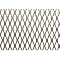 Buy cheap Fine Stainless Steel Expanded Mesh Fabric Diamond Hole Shape Customized Color from wholesalers