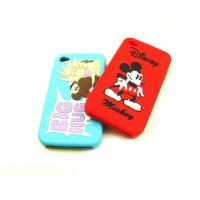 Buy cheap White / Black / RED Cell Phone Silicone Cases With Mickey Pattern, Screen Print Logo product