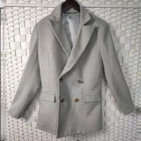Buy cheap Soft Women's Casual Blazers , Double - Breasted Ladies Wool Blazer Jackets from wholesalers