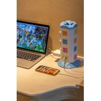 Buy cheap T4 Vertical Extension Portable Power Socket Hot Surge Protector from wholesalers