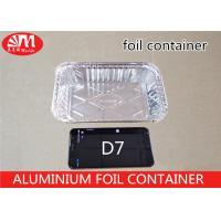 Rectangle Shape Aluminium Foil Container D6 480ml Volume Grill Pan FDA Approval