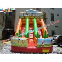 Buy cheap Rental Commercial Inflatable Slides With Double Line Slide product