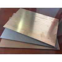 Buy cheap Anti - Bacterial Copper Composite Panel Waterproof With High Peeling Strength from wholesalers