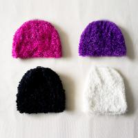 Buy cheap Winter Simple Deluxe polar fleece plush Knitted  Beanies hats knitting crochet cap for teenagers kids from wholesalers