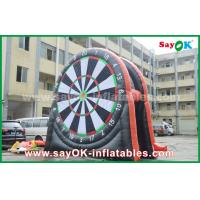 Buy cheap Red / Black Inflatable Sports Games Football Dart Board With Logo printing from wholesalers