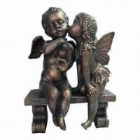Buy cheap Cherub Sculpture with Brass Finish, OEM Services are Provided from wholesalers