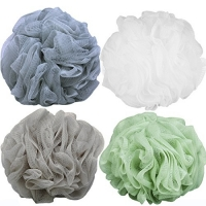 Buy cheap Loofah Bath Sponge Luffa Loufa Body Scrubber Mesh Pouf Shower Ball Exfoliating Shower Sponge Pack of 4 (60g/pcs) product