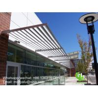 Buy cheap aluminum solor shading sun shades louver for windows or building with elliptical shape profile from wholesalers