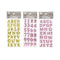 Buy cheap Glitter Letter Alphabet Kids Sticker Printing Surface High Glossy from wholesalers