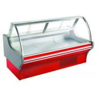 Buy cheap Curved Glass Deli Display Counter Refrigerator For Supermarket With Optional Rear from wholesalers