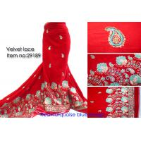 Buy cheap wholesale 100% cotton african velvet lace fabric from wholesalers