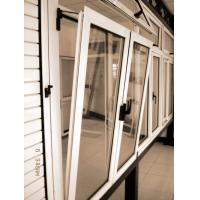 Single Casement Window : Double single swing aluminum tilt turn casement awning