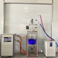 Buy cheap Double Jacket Glass Distiller 10 Liter Chemical Reactor 20L 20 L Glass Cylindrical Reaction Vessel Jacketed Vessel from wholesalers