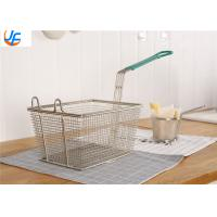 Buy cheap Kitchen Food Service Metal Fabrication Utensils Fry Baskets Rectangle Round Square from wholesalers