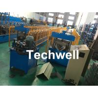 Buy cheap Roof Ridge Cap Roll Forming Machine With Single Chain Transmission , 15 Stands of Forming Stations from wholesalers