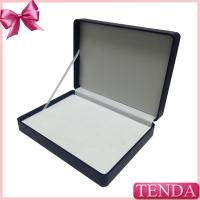 Buy cheap White Brown Black Blue Hinged Ribbon Package Leatherette Leather Box with PVC PET Blister from wholesalers