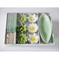 Buy cheap Beautiful Aromatherapy Incense Gift Sets With 6 Pcs Flower Tealights product