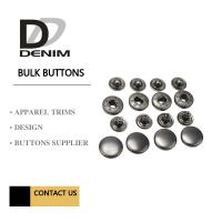 Buy cheap Anti Black Silver Clothing Snap Buttons , Bulk Replacement Snap Buttons Custom from wholesalers