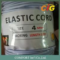 Buy cheap Garments Accessories 3mm , 4mm Thickness White And Black Elastic Tape For Package Tire product