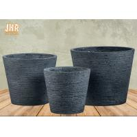 Buy cheap Clay Garden Pots Outdoor Flower Pots Gray Color Pot Planters MGO Plants Pot Round Clay Pots from wholesalers
