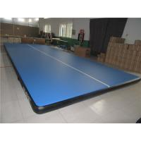 Double Wall Material Blue Inflatable Air Track Mat Indoor Use Smooth Surface