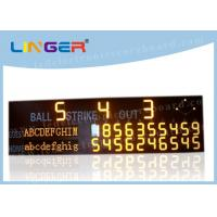 Buy cheap High Brightness LED Baseball Scoreboard For University CE / RoHS Approved from wholesalers