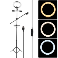 Buy cheap 67cm 5V Selfie Ring Light With Cell Phone Holder Stand For Live Stream Makeup from wholesalers