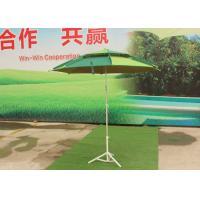 High Light Fiberglass Beach Umbrella Silver Coated For Commercial Street