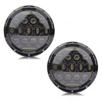 Buy cheap 7 Hi Lo Beam 75w Led Jeep Headlights With Aluminum Die Cast Housing from wholesalers