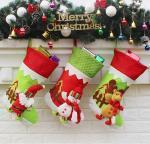 santa plush snowman christmas stockings,cheap christmas stockings,santa christmas stockings