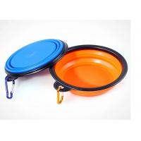 Buy cheap Collapsible Travel Puppy Feeding Bowl , Silicone Black Frame 5.12'' Pet Water Bowl product