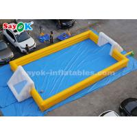 Buy cheap 12*6m Yellow PVC Inflatable Sports Games Inflatable Football Soccer Field from wholesalers
