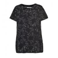 Buy cheap Soft Printed Round Neck Short Sleeve Blouse , Summer Fashion Tops For Ladies from wholesalers