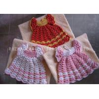 China Fan Weaven Pattern Crochet Christmas Ornaments , Hollow Out White Crochet Dress on sale