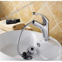 Buy cheap high quality suqare pull out basin faucet mixer tap,bathroom basin mixer faucet,chrome bathroom pull out square basin fa from wholesalers
