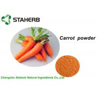 Buy cheap 100% Pure Vegetable Extract Powder , Organic Carrot Juice Powder With Vitamin B1 from wholesalers