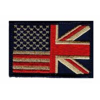 Buy cheap Custom UK Country Flag Patches Great Britain Woven Clothing Embroidered Patches from wholesalers