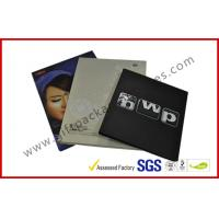 China Rectangle Book Shape Hard Cover Gift Packaging Boxes , Offset Printed CD Holder Gift Packaging Boxes on sale