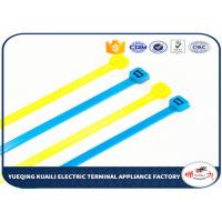 Buy cheap Customized Nylon Cable Ties / colored cable ties plastic For power indutry from wholesalers
