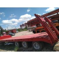 Buy cheap Wheel Moving Used Construction Machinery Low Bed Used Flatbed Trailer 3 Axle from wholesalers