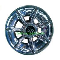 Buy cheap Silver Ss 12 Inch Wheel Covers , Black Golf Trolley Wheel Covers Chrome Finishing product