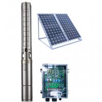 Buy cheap 4 Inch DC Solar Deep Well Submersible Pump , Solar Powered Water Pump For Irrigation product