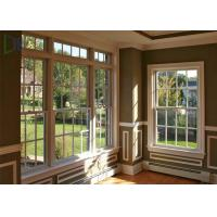 Buy cheap High Durability vertical sliding aluminium windows Double glazed with grilles from wholesalers