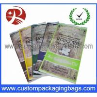Buy cheap Heat Seal Clear Custom Plastic Popcorn Packaging Bags With Side Gusset from wholesalers