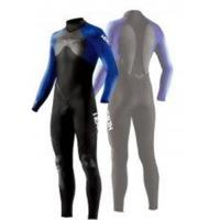 Buy cheap XL Mens Full Black / Blue Neoprene Diving Suits 4 / 3mm with Smoothskin Collar from wholesalers