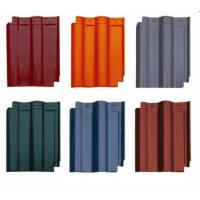 Buy cheap Terracotta Lightweight Spanish Roof Tiles With Snow / Storm Resistance from wholesalers