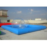 Buy cheap Movable Rectangle Inflatable Pool , Inflatable Above Ground Pools Easy Installation from wholesalers