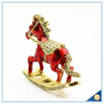 Buy cheap Enamel Metal Trojan Shape Trinket Box Animal Series Rhinestone Jewelry Box SCJ730 from wholesalers